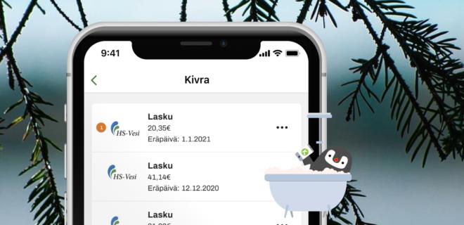Mobiilisovellus Kivra – kuvituskuva