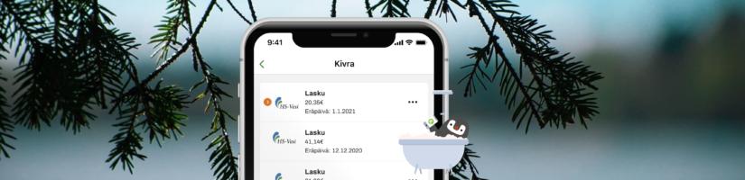 HS-Veden vesilaskut voi vastaanottaa ja maksaa Kivralla